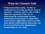 what the chemists said3