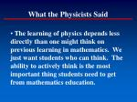 what the physicists said2