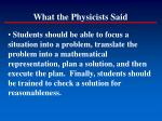 what the physicists said3