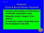 summary colon rectal disease treatment