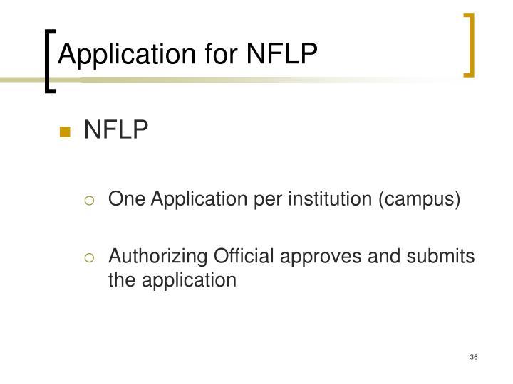 Application for NFLP