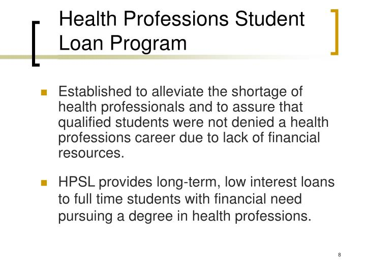 Health Professions Student Loan Program