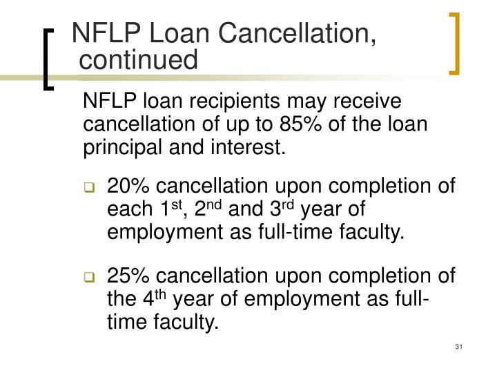 NFLP Loan Cancellation,