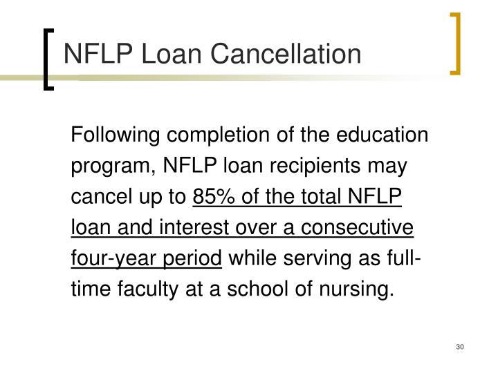 NFLP Loan Cancellation