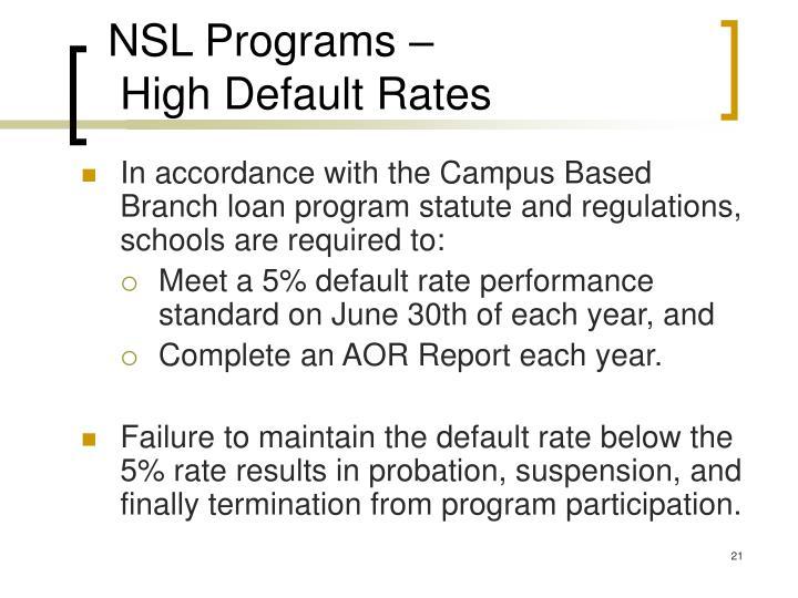 NSL Programs –