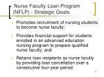 nurse faculty loan program nflp strategic goals