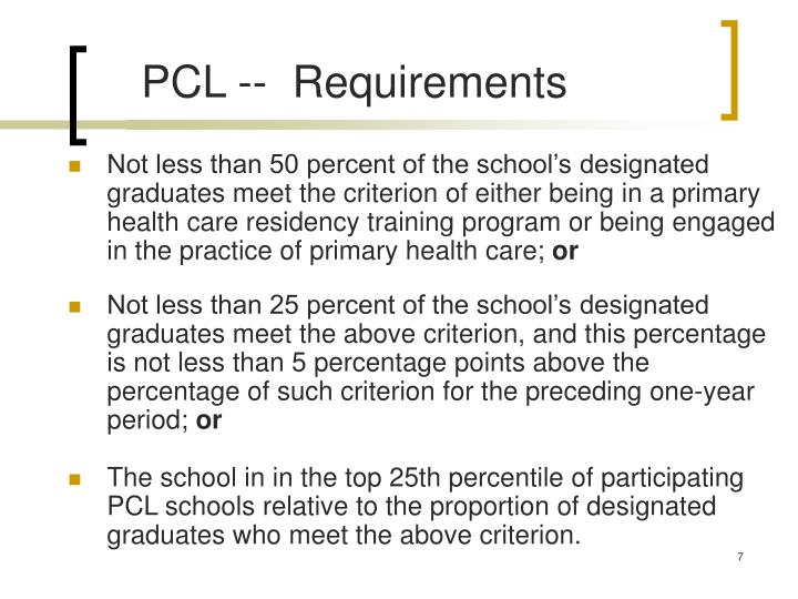 PCL --  Requirements