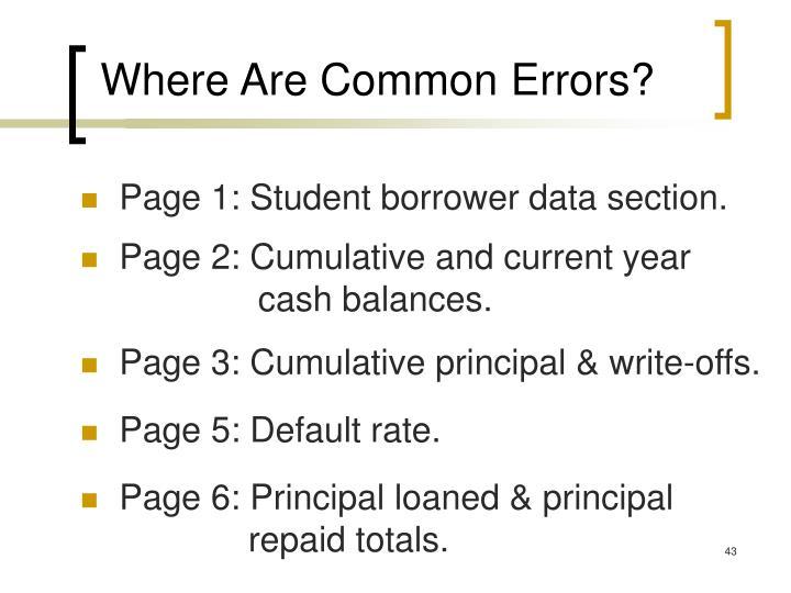 Where Are Common Errors?