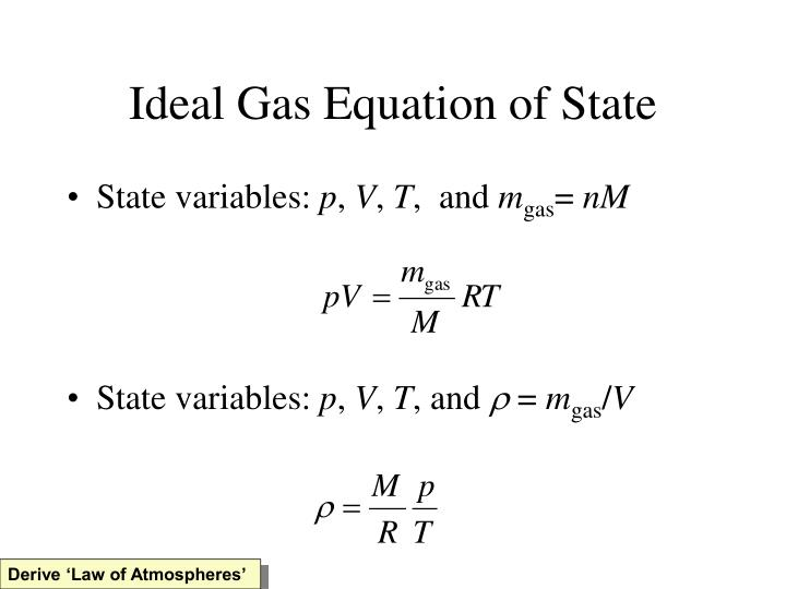 Ideal Gas Equation of State