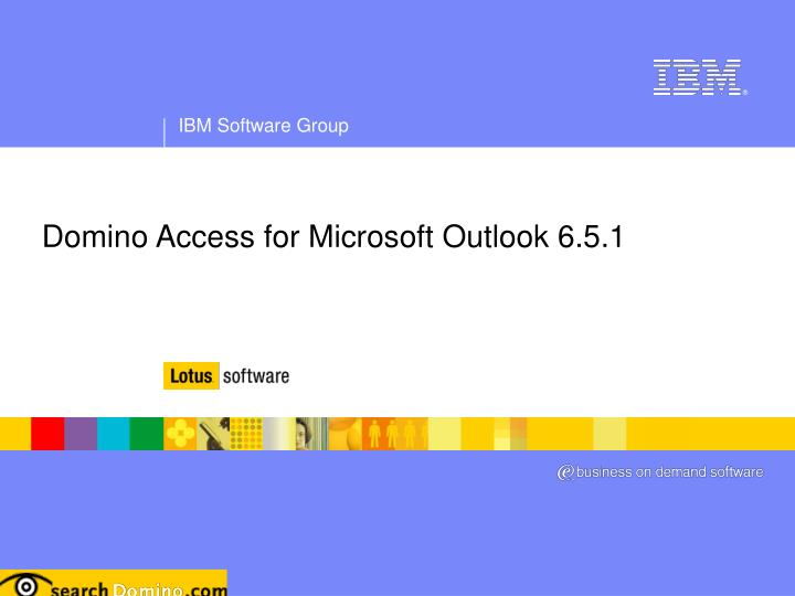 Domino Access for Microsoft Outlook 6.5.1