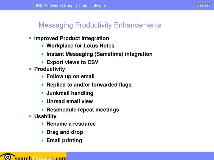 Messaging Productivity Enhancements