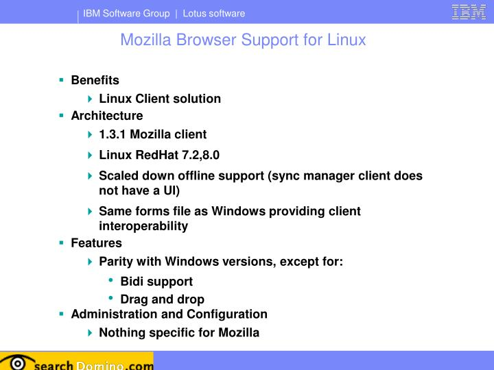 Mozilla Browser Support for Linux
