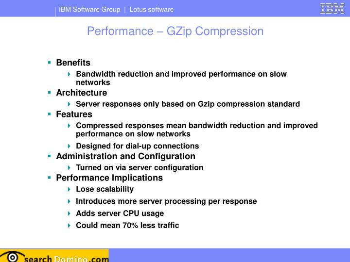 Performance – GZip Compression