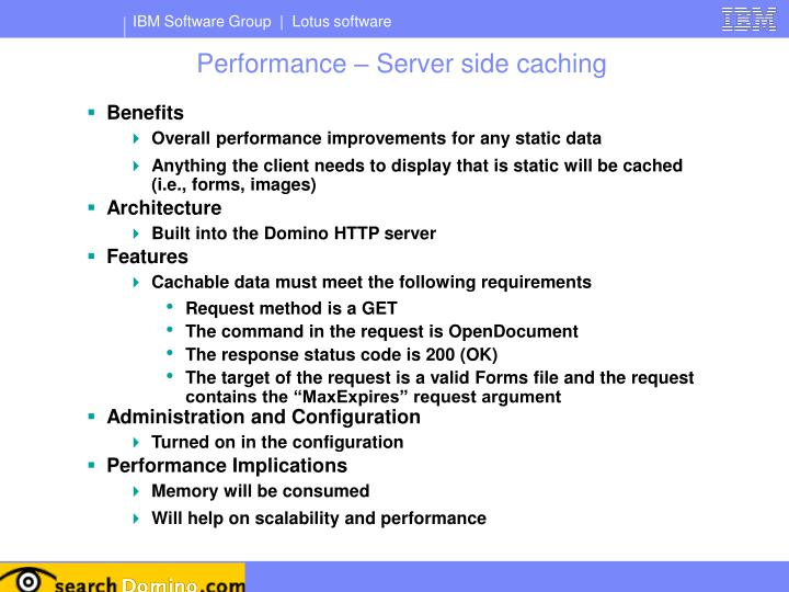 Performance – Server side caching