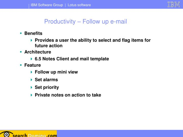 Productivity – Follow up e-mail