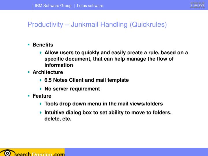 Productivity – Junkmail Handling (Quickrules)