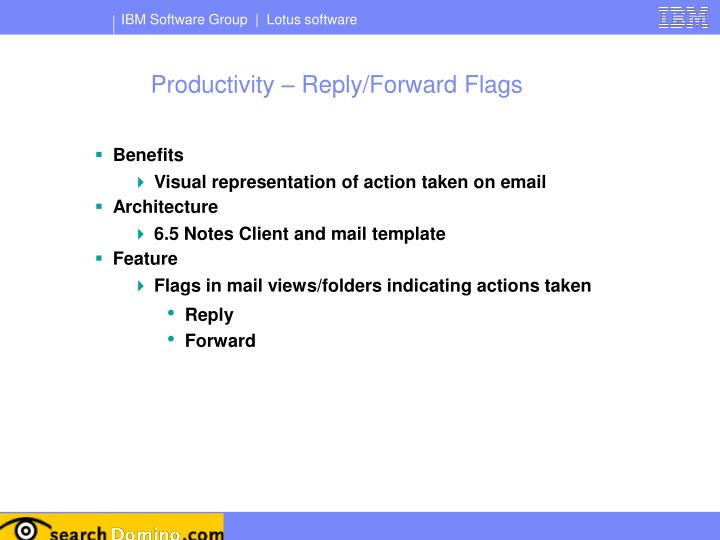 Productivity – Reply/Forward Flags