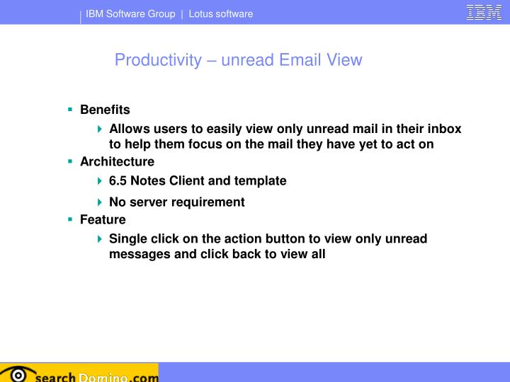 Productivity – unread Email View