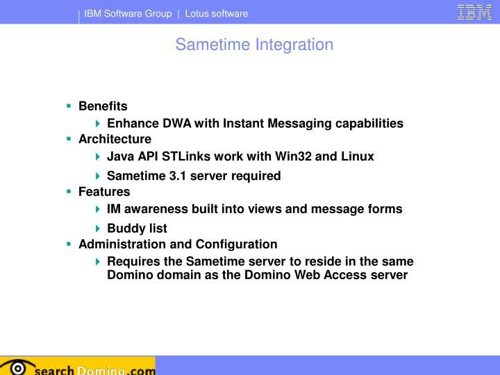 Sametime Integration