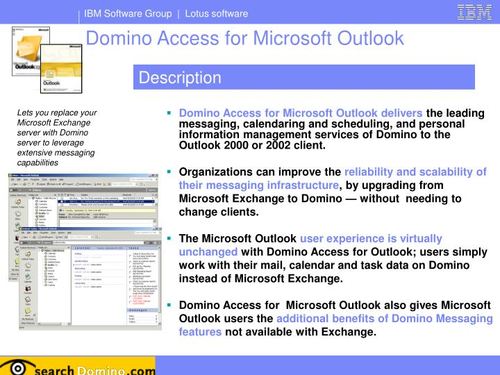Domino Access for Microsoft Outlook