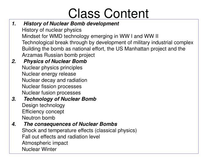 Class Content