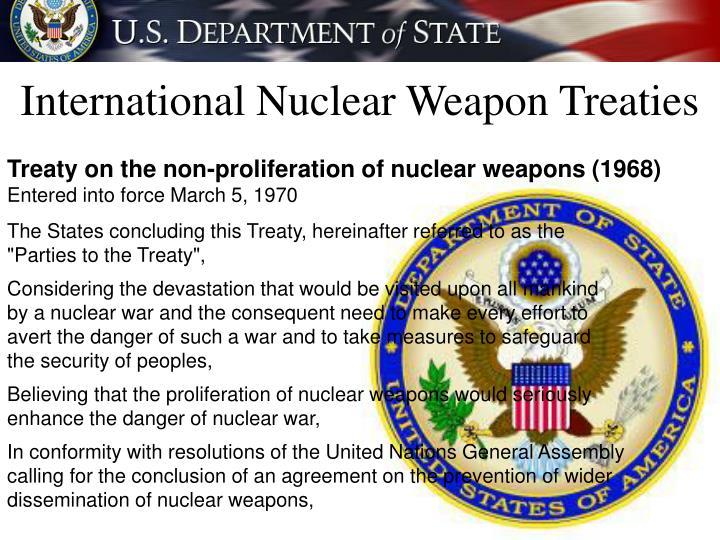 International Nuclear Weapon Treaties