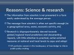 reasons science research