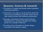 reasons science research1