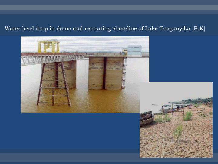 Water level drop in dams and retreating shoreline of Lake Tanganyika [B.K]