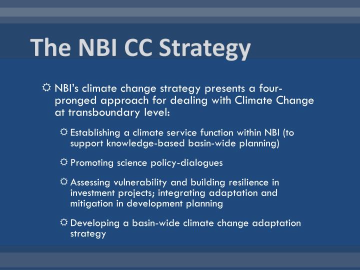 The NBI CC Strategy
