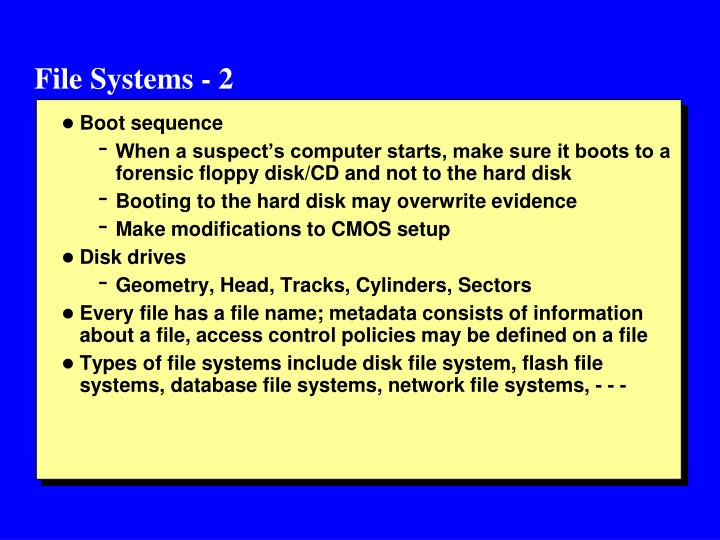 File Systems - 2