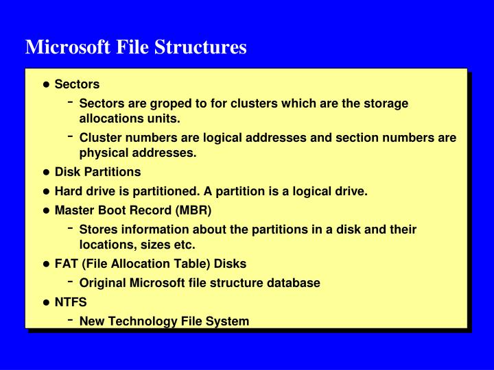Microsoft File Structures