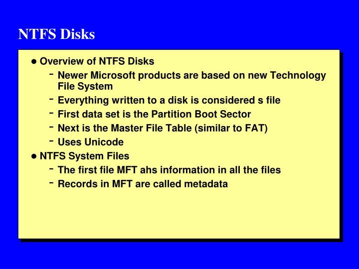 NTFS Disks