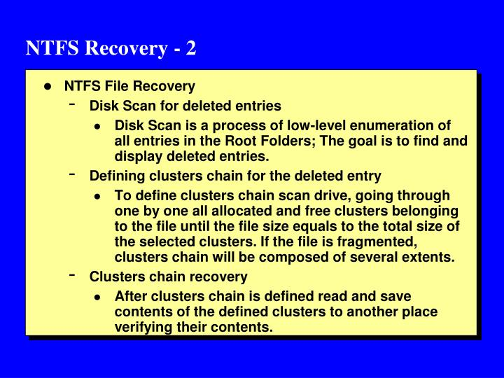 NTFS Recovery - 2