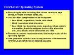 unix linux operating system