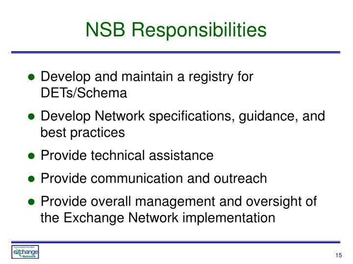 NSB Responsibilities