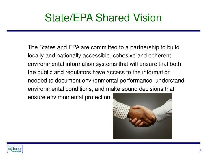 State/EPA Shared Vision