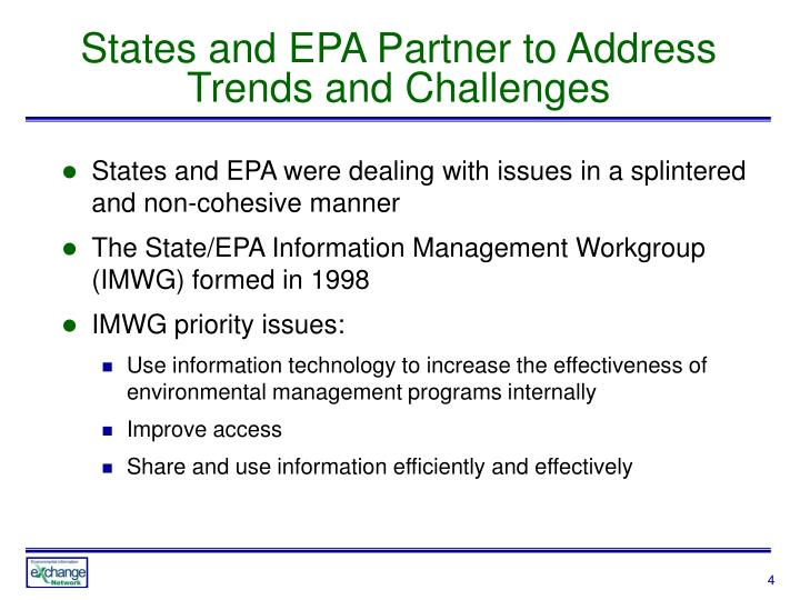 States and EPA Partner to Address Trends and Challenges