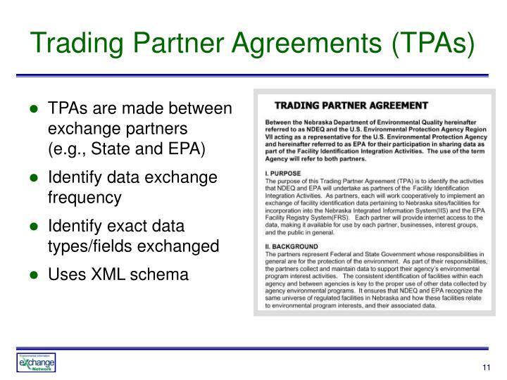Trading Partner Agreements (TPAs)