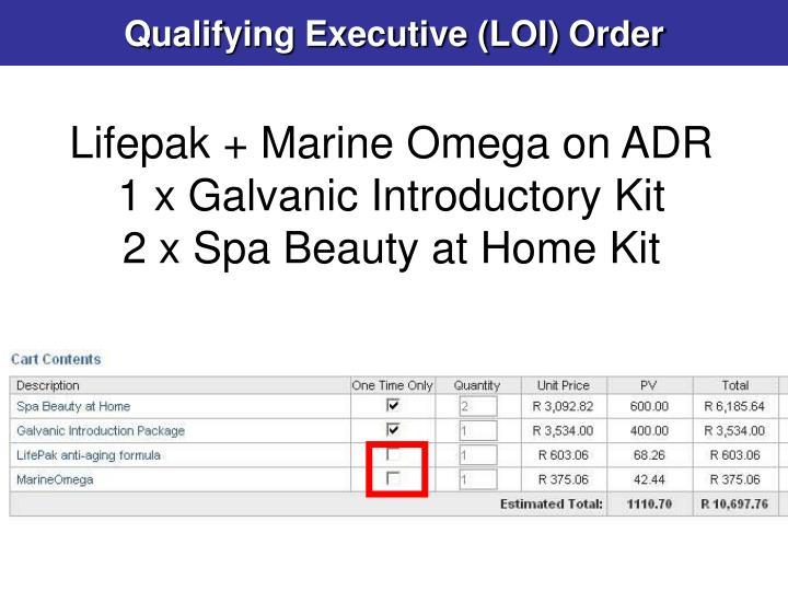 Qualifying Executive (LOI) Order