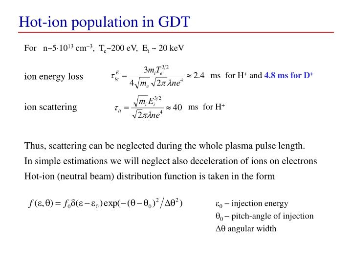Hot-ion population in GDT