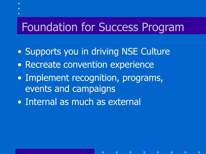 Foundation for Success Program