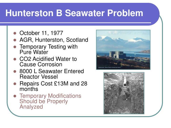 Hunterston B Seawater Problem