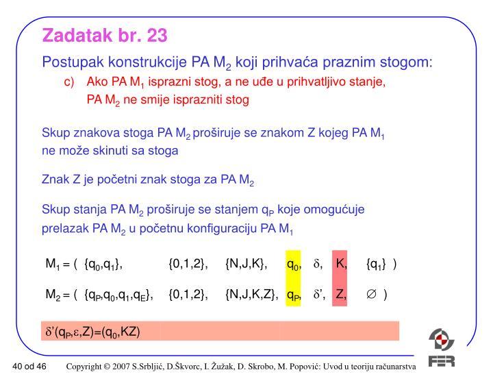 Zadatak br. 23