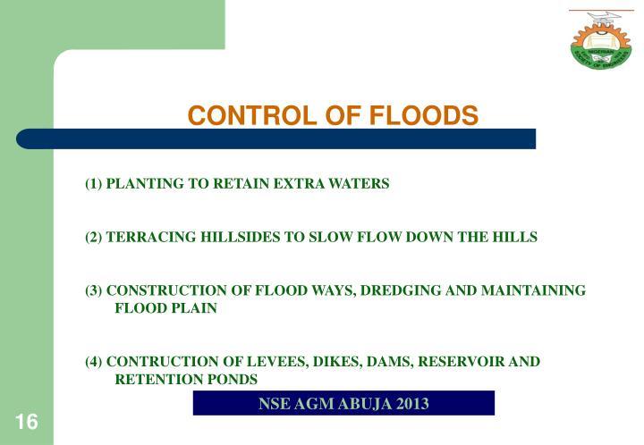 CONTROL OF FLOODS