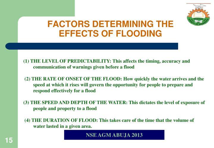 FACTORS DETERMINING THE