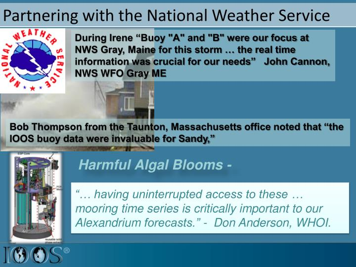Partnering with the National Weather Service