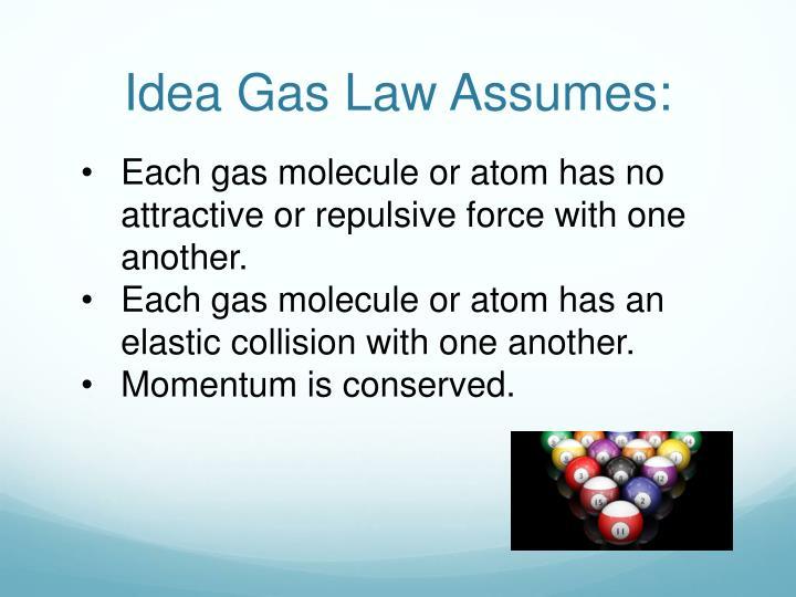 Idea Gas Law Assumes: