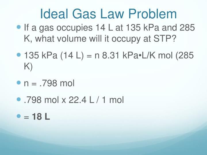 Ideal Gas Law Problem