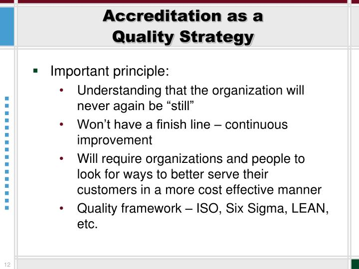 Accreditation as a